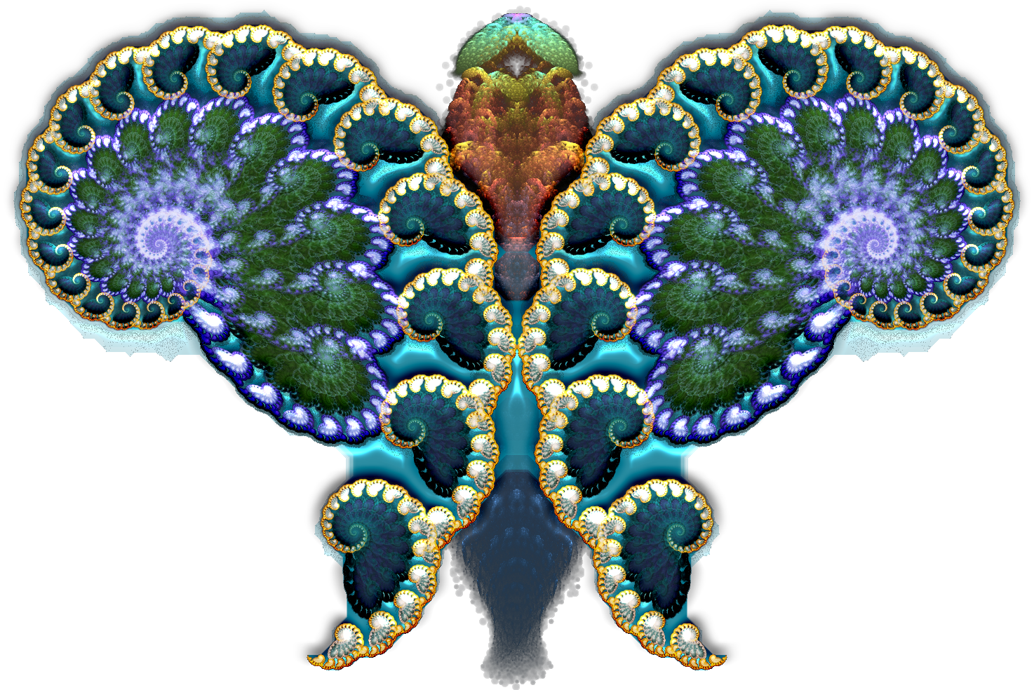 Fractal butterfly. Eastern Philosophy and VR